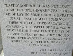 bradford quote on monument